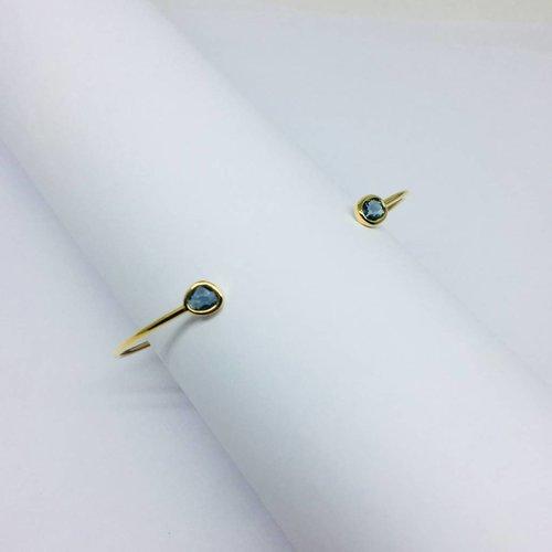 Tai Gold Open Stone Bracelet
