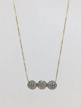 Dana Rebecca Yellow Gold Triple Circle Necklace