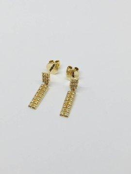 Dana Rebecca Square Pave Drop Earrings