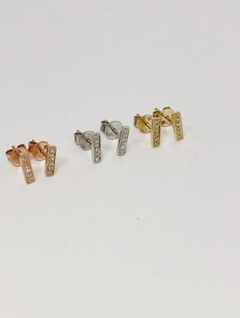 Majolie Pave Diamond Bar Earrings
