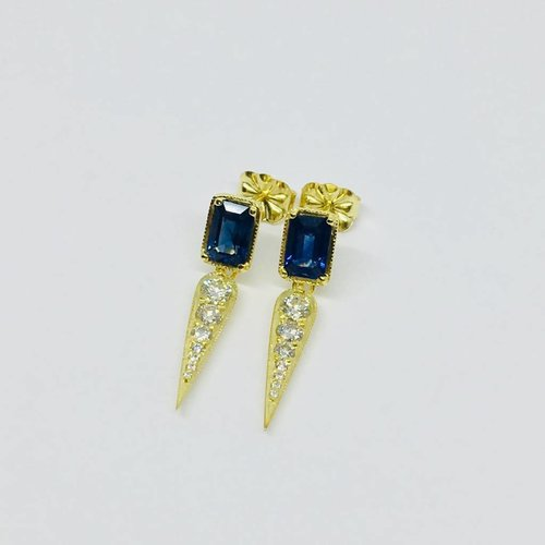 ILA Blue Sapphire and Diamond Earrings