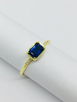 ILA Blue Sapphire and Diamond Ring