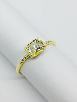 ILA White Sapphire and Diamond Ring