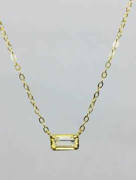 ILA White Sapphire Necklace