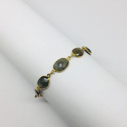 Kat Designs Smokey Topaz Bezel Bracelet