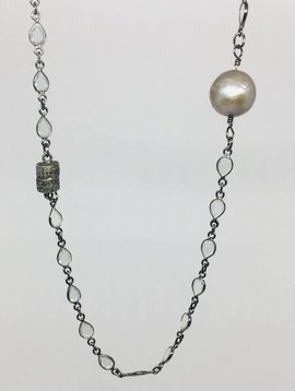 Kat Designs Crystal Teardrop Chain Necklace