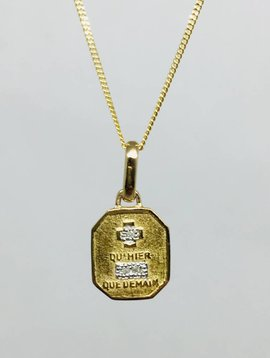 Leah Alexandra Square Love Token Necklace