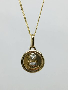 Leah Alexandra Round Love Token Necklace