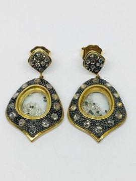 United Gemco Diamond Shaker Earrings