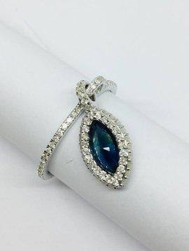 United Gemco Sapphire Hanging Ring