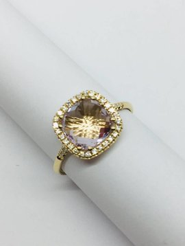 Suzanne Kalan Yellow Gold and Rose de France Ring