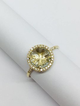 Suzanne Kalan Yellow Gold and Green Amy Ring