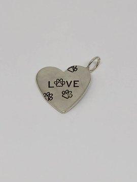 Heather Moore Pawprint Heart Charm