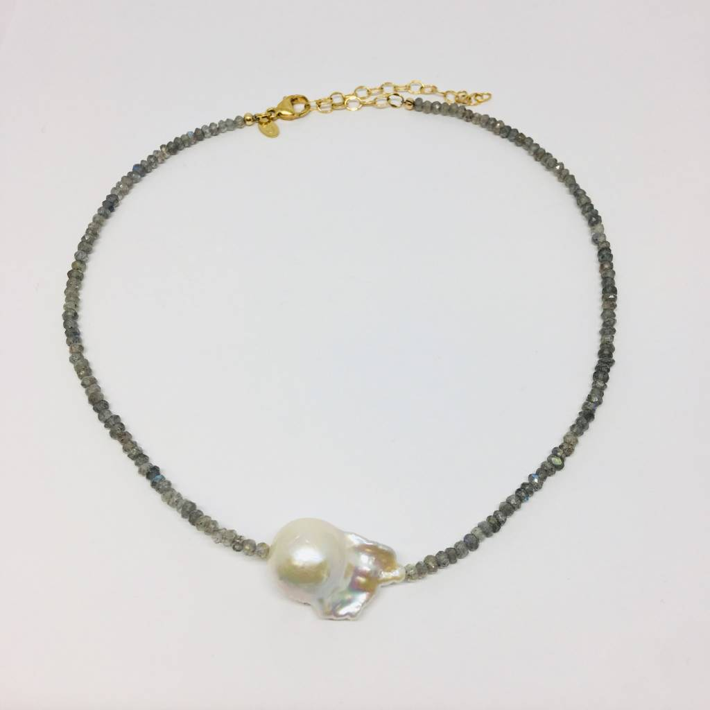 Joie DiGiovanni Labradorite Single Baroque Pearl Gemstone