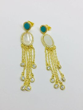 Nyla Star Raquel Tassel Earrings