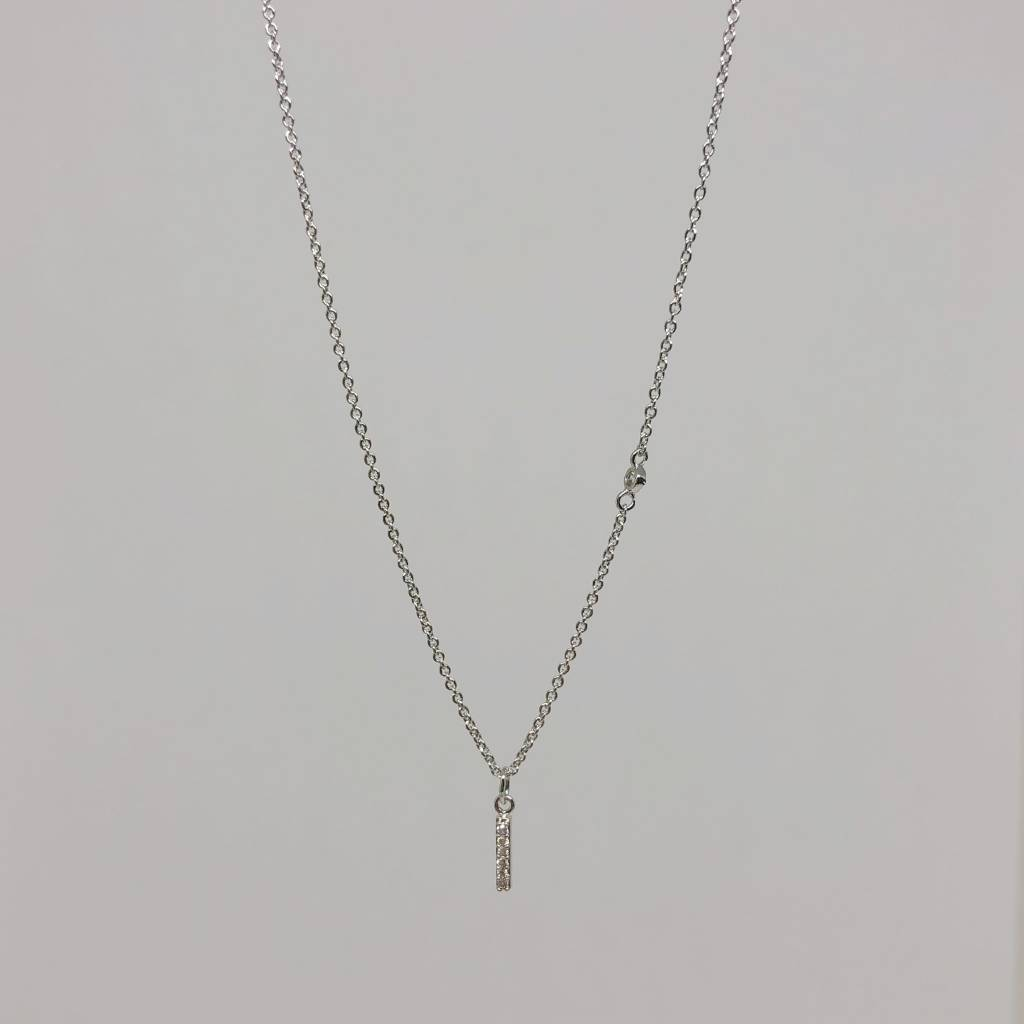Tai Silver Stick Necklace