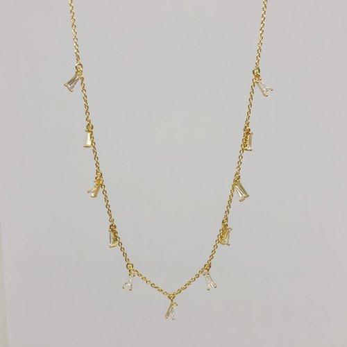 Tai Gold Baguette Necklace