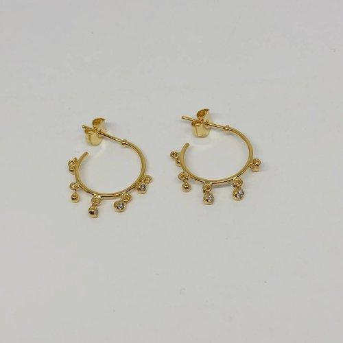 Tai Charm Hoop Earrings