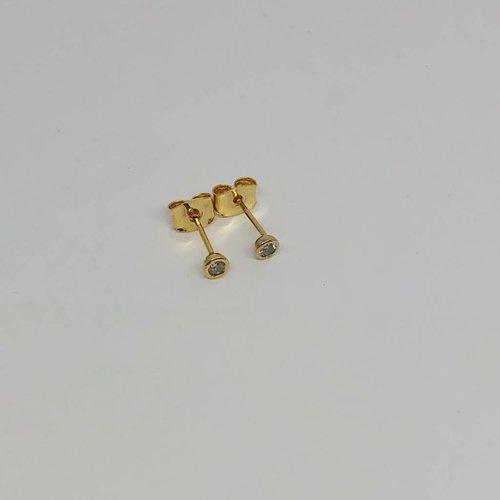 Tai Gold Bezel Earrings