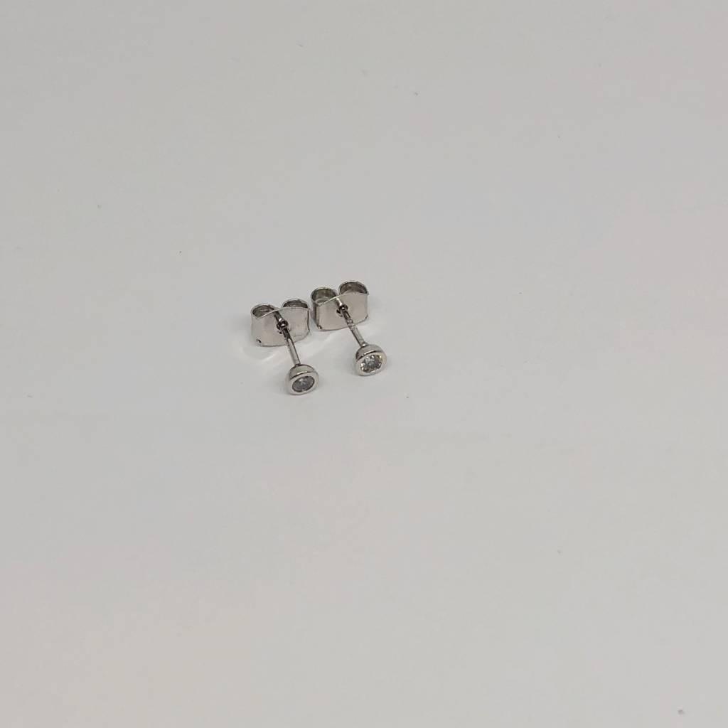 Tai Silver Bezel Earrings