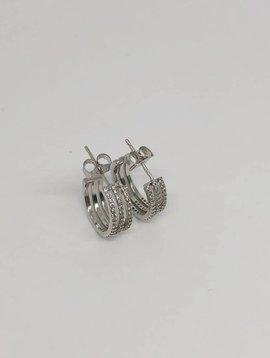 Tai Large Triple Row Huggie Earrings