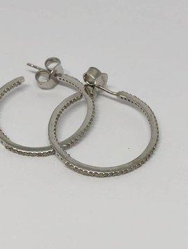 Kat Designs Diamond Hoops