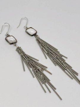 Kat Designs Silver Tassle Earrings
