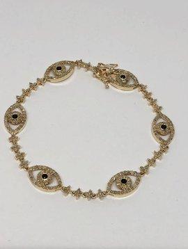 Lotasi Evil Eye Pave Bracelet
