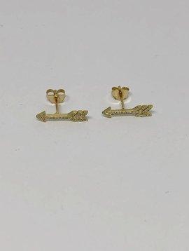 Jennifer Meyer Jennifer Meyer Extra Small Diamond Arrow Earrings