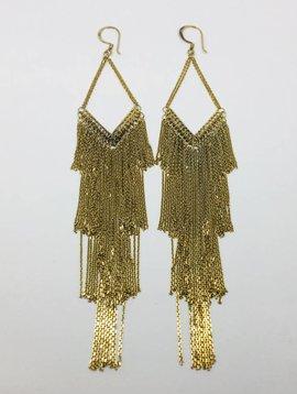Marie-Laure Chamorel Gold Tassle Drop Earrings