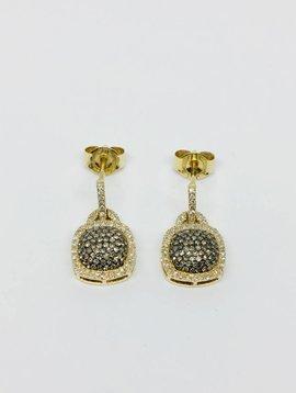 Lotasi Pave Cushion Drop Earrings