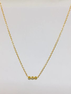 Jennifer Meyer Jennifer Meyer Triple Bezel Necklace