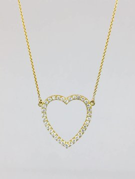 Jennifer Meyer Jennifer Meyer Diamond Open Heart Necklace