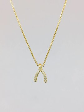 Jennifer Meyer Jennifer Meyer Mini Diamond Wishbone Necklace