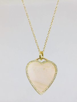 Jennifer Meyer Jennifer Meyer Pink Opal Heart Necklace
