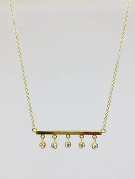 Jennifer Meyer Jennifer Meyer Diamond Bezel Bar Necklace