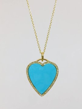Jennifer Meyer Jennifer Meyer Turquoise Heart Necklace