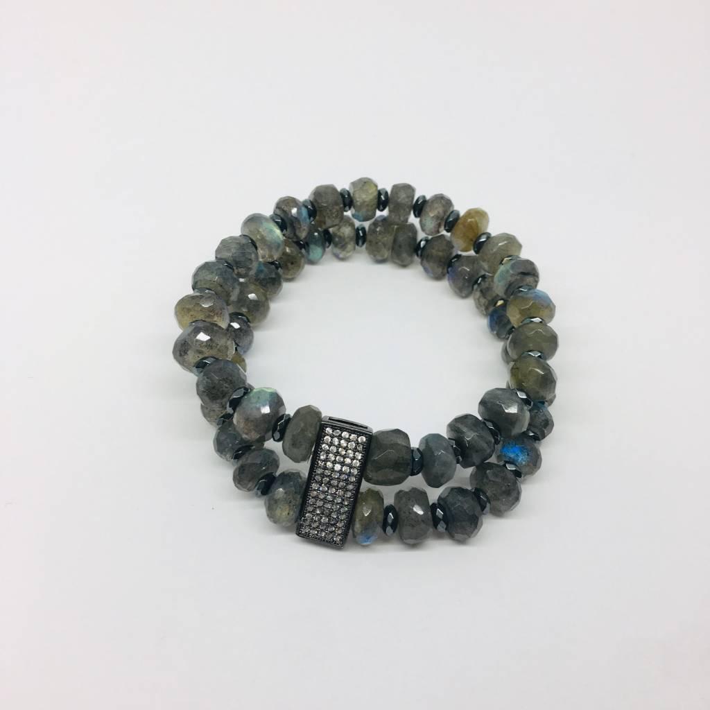 Kat Designs Labradorite Layered Bracelet