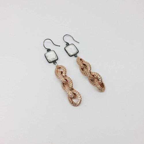 Kat Designs Chain Link Drop Earrings