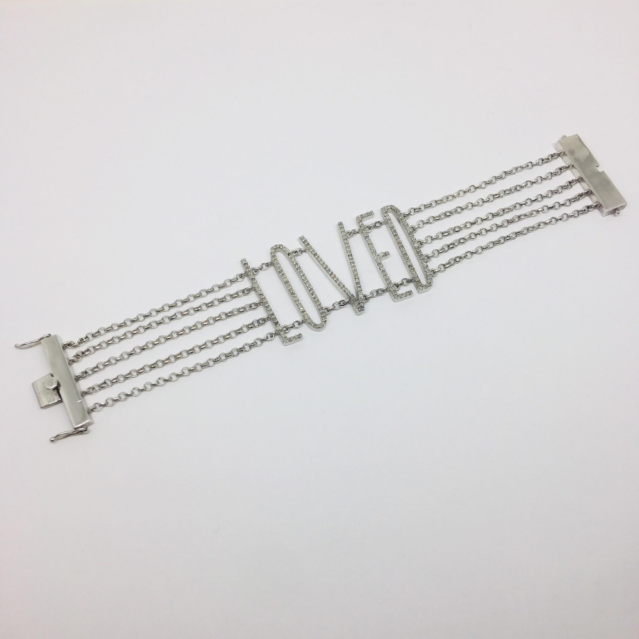 Kat Designs Diamond LOVE Bracelet
