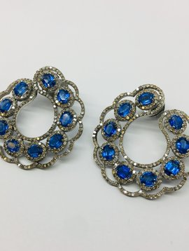 Lotasi Blue Sapphire Wrap Earrings