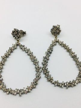 Lotasi Diamond Open Drop Earrings