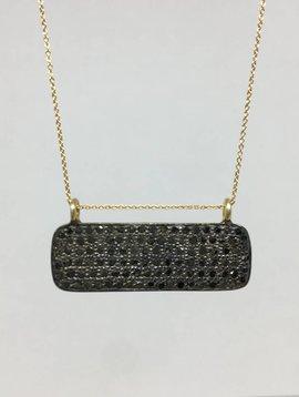 Lera Jewels Black Diamond Bar Necklace