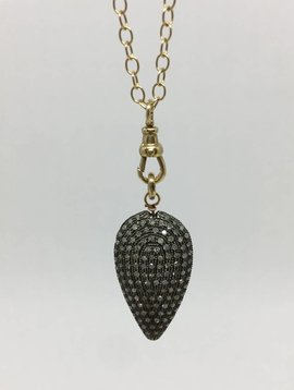 Lera Jewels Black Diamond Pendant Necklace