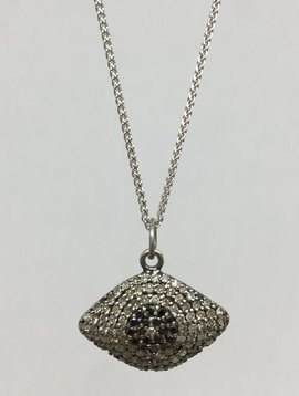 Lera Jewels Diamond Evil Eye Necklace