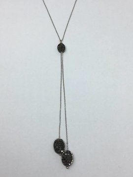 Lera Jewels Chicklet Lariat necklace