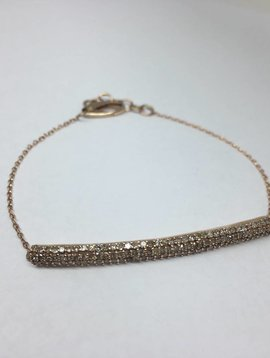 Lera Jewels Diamond Bar Bracelet