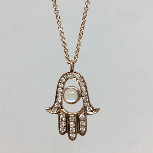 Lera Jewels Hamsa Necklace