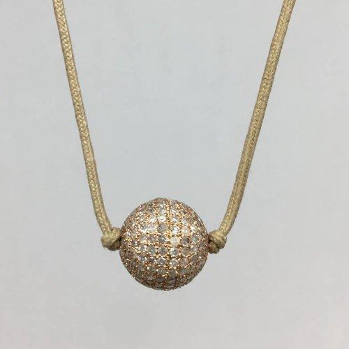 Lera Jewels Diamond ball choker