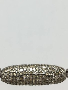 Lera Jewels Oval Diamond Necklace